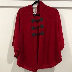 Libian Red Cape Jacket